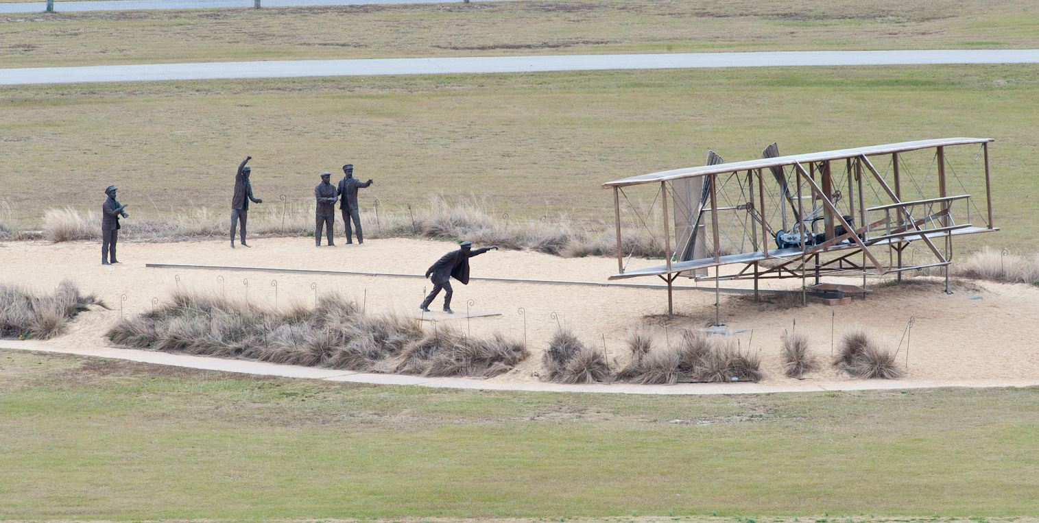 First Wright Brothers Flight within first in flight   bill reid photography